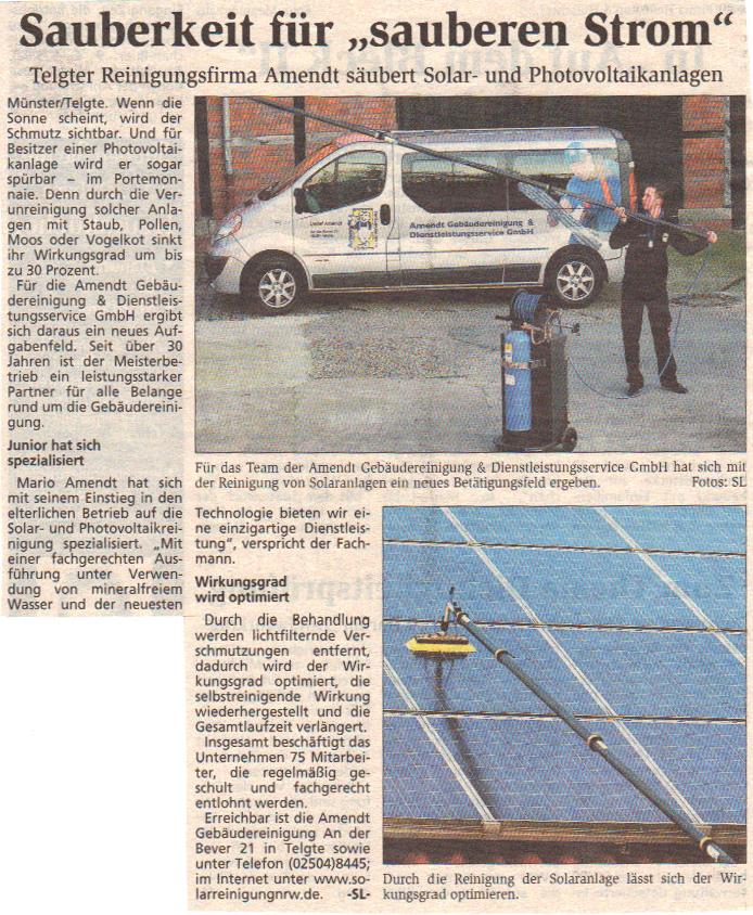 Solarreinigung NRW - Solarreinigung und Photovoltaik Reinigung sauberkeit-fuer-sauberen-strom